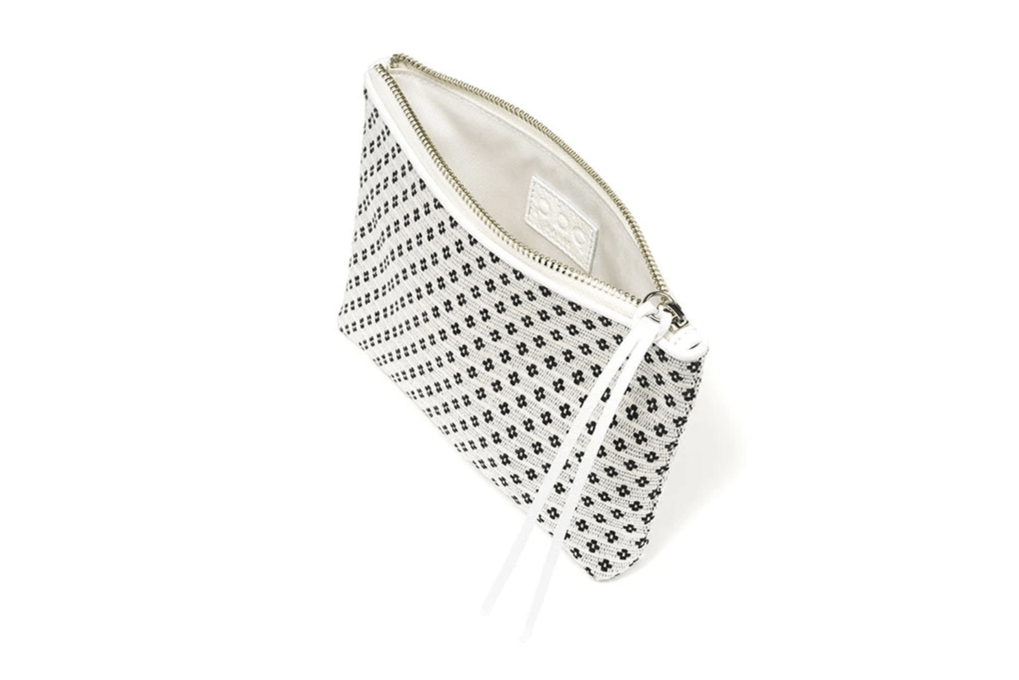 PBG PARIS Bags of Hope zipper pouch, white/black