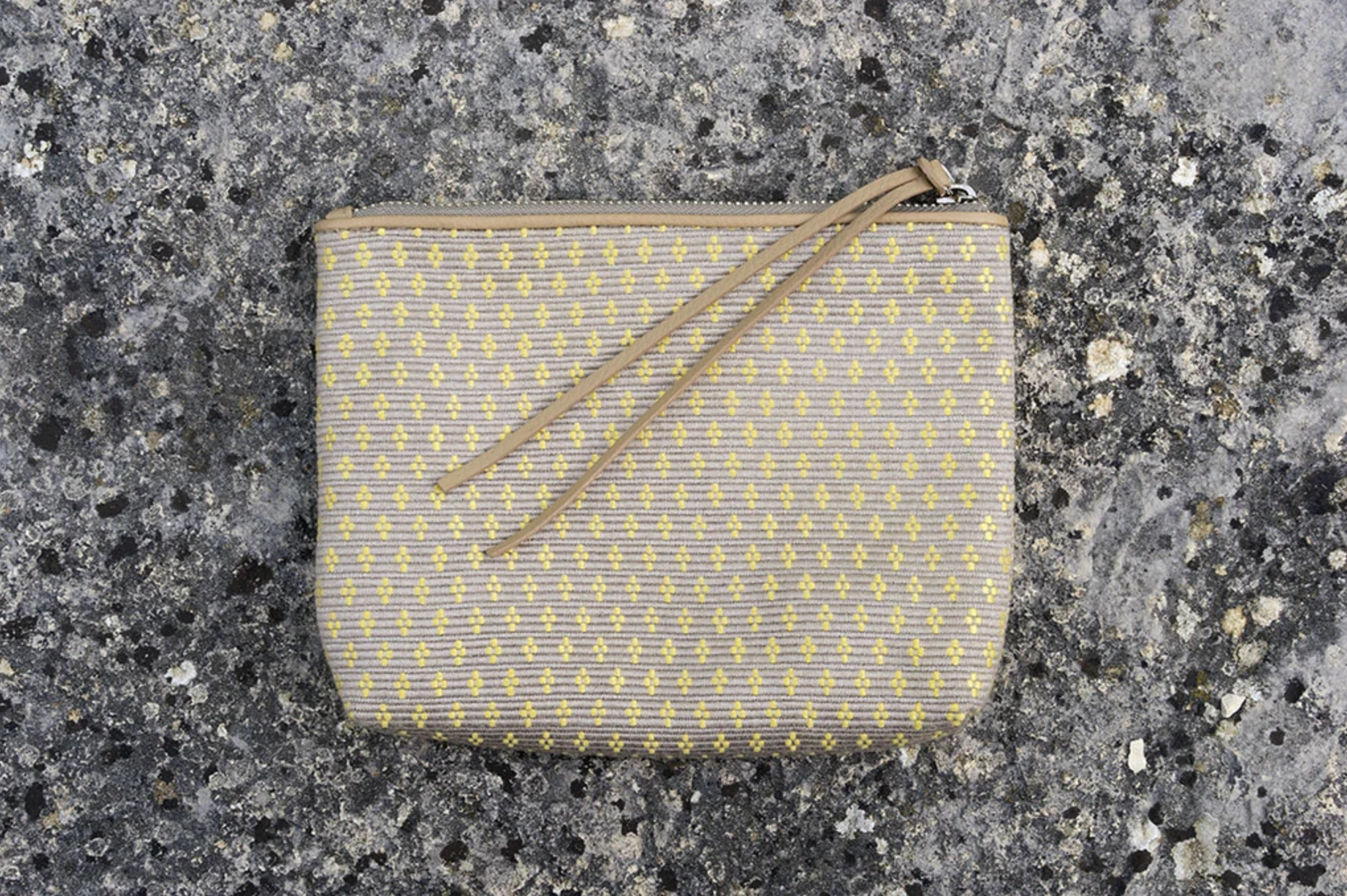Bags Of Hope Zipper Pouch, Beige/yellow