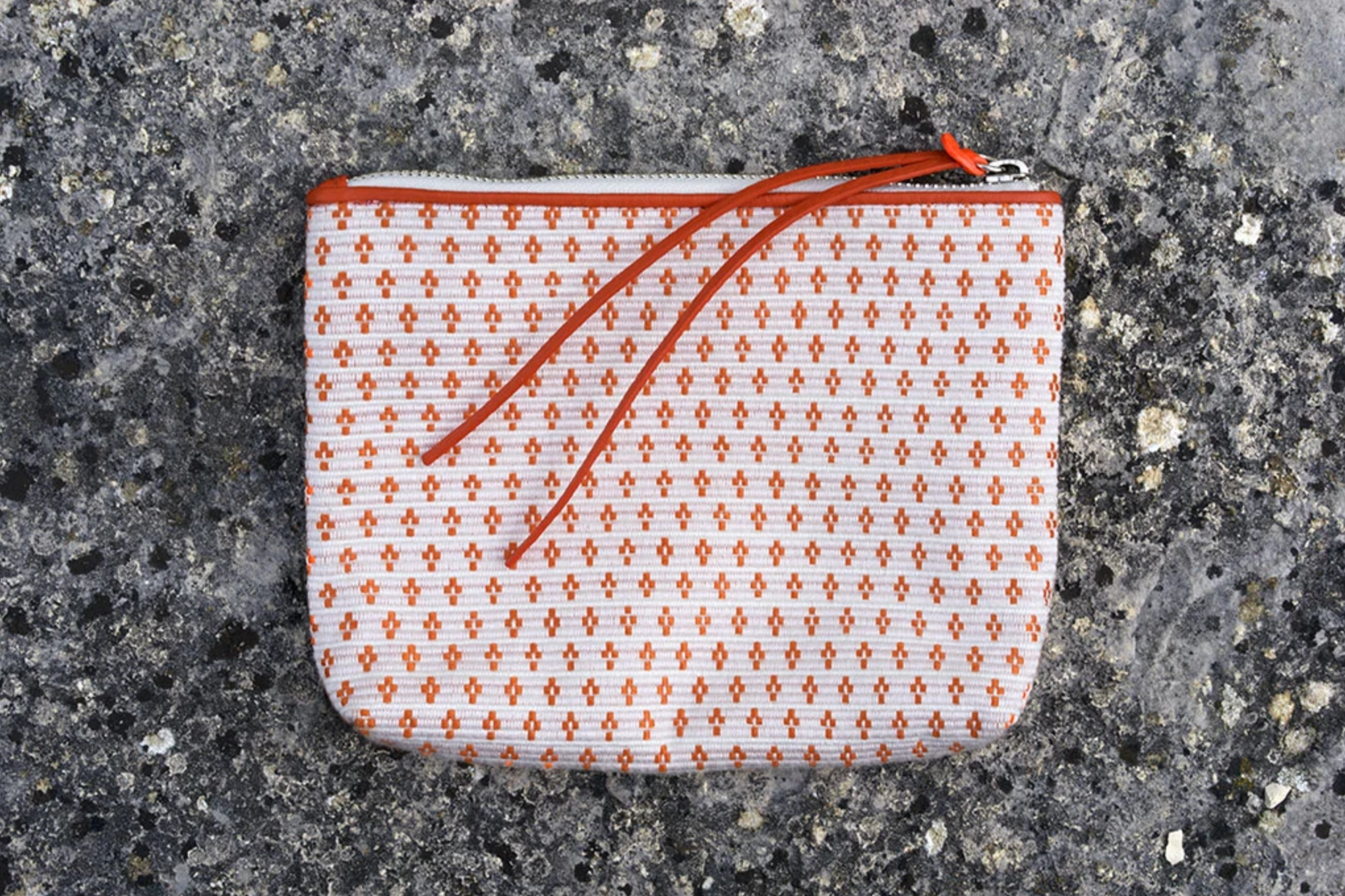 Bags Of Hope Zipper Pouch, White/orange