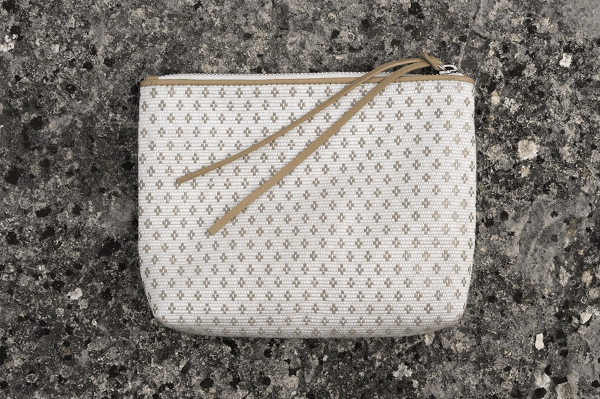 Bags Of Hope Zipper Pouch, White/beige
